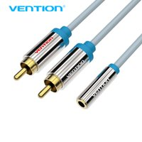 Vention 2 RCA maschio a femmina jack da 3,5 mm cavo audio Splitter Y per iPhone Auricolare DVD Edifico Auricolare DVD AUX VAB-R01