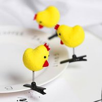 Wholesale Small Carts - Authentic small yellow chicken non - stupid chicks hairpin sell Meng head hoop hair ornaments burst paragraph wholesale headdress chick cart