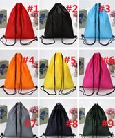 Wholesale Travel Shoe Kit Wholesale - Drawstring debris 210D Oxford cloth drawstring Swimming Travel Kits storage bag waterproof bag shoes beach swimming bag pocket M736