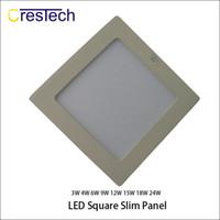 Wholesale Edge Lit Led Light Panel - New Style Ultra-Narrow Edge Led Recessed Panel Light Round and Square LED Ceiling Lights Aluminum Downlight AC85-265V