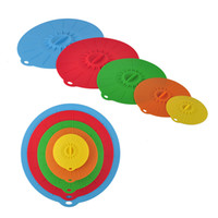 Wholesale Silicone Bowl Covers - Universal Silicone Suction Lid-bowl Pan Cooking Pot Lid-silicon Stretch Lids Silicone Cover Kitchen Pan Spill Lid Stopper Cover 0702070