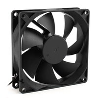 Wholesale 92mm Fan - Wholesale- GTFS Hot 92mm x 25mm 24V 2Pin Sleeve Bearing Cooling Fan for PC Case CPU Cooler