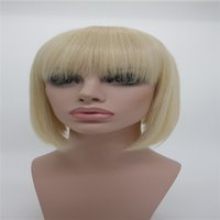 Wholesale Wholesale American Synthetic Wigs - Model XT792 American Woman Short Straight Hair Lace Short Trend Of Elegant Sexy Fiber Hair White Gold Hair Wigs