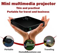 Wholesale used business projectors resale online - Portable HD projector bulid in mAh battery pico digital beamer use for home business education engineering KTV