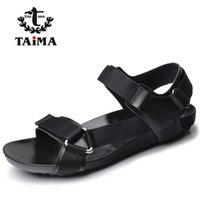 Wholesale Tie Styles For Men - Wholesale-2016 Summer Fashion New Style Men Genuine Leather Sandals Comfortable Breathable Casual Sandals Shoes For Men Brand TAIMA 40-45