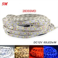 Wholesale Led Strip Light Pack - 5M Pack 2835 SMD More Brighter Than 3528 5050 SMD LED Strip light DC 12V 60LEDs M Indoor Decorative Tape
