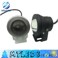 Wholesale high swimming pool - 2015 high quality 10W RGB Floodlight Underwater LED Flood Lights Swimming Pool Outdoor Waterproof Round DC 12V Christmas lamp