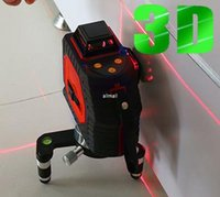 auto-nivelamento de laser de linha cruzada venda por atacado-Freeshipping 12 linha de nível a laser 360 Nível 3D Laser Autonivelante Cross Line Red Beam