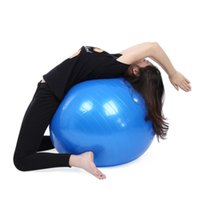 Wholesale 75CM PVC Explosion proof Thick Yoga Ball Fitness Gymnastic Balance Exercise Training Pilates Yoga Ball Colors Outdoor Tent Yoga Sport B