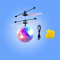 Wholesale hot sales flying crystal ball infrared induction led flashing aircraft toxic free ABS high quality product with fast