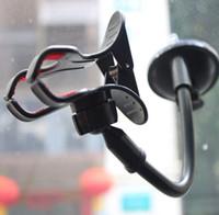 держатели для чашек держатели gps оптовых-Мобильный телефон автомобильный держатель лобовое стекло присоски присоски 360 градусов вращающийся кронштейн подставка для iPhone Samsung GPS