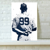 Wholesale Canvas Wall Art New York - HD Printed Sports Art Oil Painting Home Decoration Wall Art on Canvas Aaron Judge New York Yankees 16x24inch