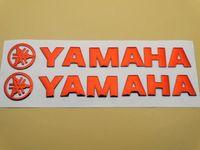 almofadas do tanque de combustível venda por atacado-14.5 CM 3D Red Fuel Gas Tanque de Combustível Emblema Decalque Adesivo Decal Pad Para Yamaha Motor