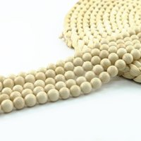 Wholesale Natural Fossil - Natural Cream River Fossil Stone Smooth Round Loose Beads 4 6 8 10mm Full Strand 15'' L0152#