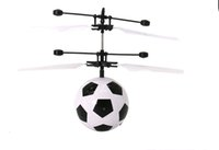 Wholesale Rc Helicopter Fire - Induction Flying Football Infrared Sensor Hand Induced Fire cracks Ball Helicopter Toys RC Mini Easy Operation Drone with flash light