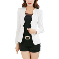 Stile coreano 2017 donne One Button Slim Blazer Casual Business Office Lady Suit tinta unita giacca cappotto Outwear