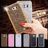 Pour iPhone5 / 6/7 Plus Case Luxe Bling Glitter Handcraft Cristal à la main Crystal Rhinestone Diamond Hard Case Housse pour Samsung Various Phone