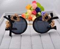 Wholesale party shade glasses - Women Baroque Black Round Sun Glasses Party Celebrity Steampunk Sun Glasses Woman Peach Heart Angel Summer Beach Shades Ladies