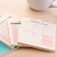 Wholesale Kawaii Diary Book - Wholesale- Cute Kawaii Weekly Monthly Work Planner Book Diary Agenda Filofax Dokibook For Kids School Supplies Free Shipping