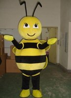 Wholesale Make Bee Costume - Promotion Hot Sale 2017 Yellow bee animal cartoon Eva Mascot Costume Fancy Party Dress Suit Free Shipping