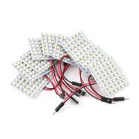48 led-panel großhandel-10 stücke Weiß LED Panel 48 SMD 1210 Auto Fahrzeug Lkw Innenbeleuchtung Bulb Girlande Anzeige Beleuchtung heißer verkauf