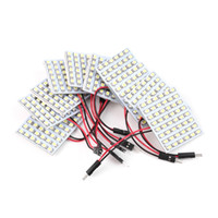 Wholesale Panel Light Truck Lighting - 10pcs White LED Panel 48 SMD 1210 Car Vehicle Truck Interior Dome Lights Bulb Festoon Indicator Lighting hot selling