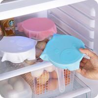Wholesale Plastic Food Wrap Film - Food-grade Silicone Saran Wrap Tableware Microwave Food Cover Plastic Wraps Ciling Film Bowl Sealing Cap Food Savers
