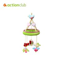 Wholesale Quality Cot - Wholesale- Actionclub High Quality music rattles colorful baby toy educational mobile baby cot beds rotate rattles stroller plush toys