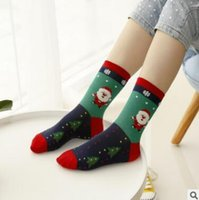 Wholesale Cute Tops For Winter - Christmas Socks For Ladies Teens Top Quality FALL Winter Cute Penguin Fox Snowmen Xmas Cotton Socks Ladies Lace Ankle Socks Korea Sock 935
