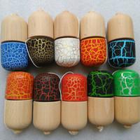 pille kendama spielzeug großhandel-Full Crack Kendama Ball Spielzeug Pillenform mit 5 Löchern Buche Holz japanische traditionelle lustige Schwert Ball Spiel Spielzeug
