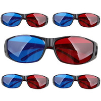 Wholesale Wholesale Tv Deals - Wholesale- Top Deals 5pairs Red+Blue Plasma TV Movie Dimensional Anaglyph 3D Vision Glasses (Anaglyph Frame), Black