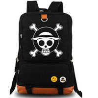 Wholesale Onepiece Men - Sea poacher backpack One piece anime daypack Cartoon onepiece schoolbag Luggages rucksack Sport school bag Outdoor day pack