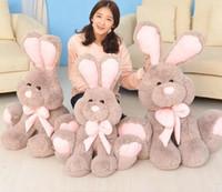 teddy-puppe große größe großhandel-Plüsch Tops Kinder Kaninchen Puppe Big Gefüllte Kaninchen Plüsch Teddy Weiche Geschenk für Valentinstag Geburtstag 100 cm groß