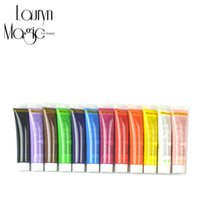 Wholesale 3d Paint Nail - Wholesale- 12 Color 12 ml color for Nail Art Designs 3D Acrylic Nail Kit Paints   Nail Polish