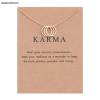 Al por mayor- Karma Gold-color Three Circle Necklace