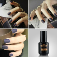 Wholesale Uv Gel Matte Coat - Wholesale-Perfect Summer Matte Surface Magic Top Coat Nail Gel Polish LED UV Soak off 8 ml Clear Color Matt Top Coat Nail Art