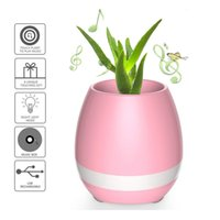 Mais novos bluetooth Música inteligente Flower Pots Plant Interaction Touch Real Plant Singing Song com Colorful Light Flowerpot