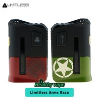 Wholesale Dual Arm - New Color Limitless Arms Race Box Mod 200W with Interchangeable Clip Sleeves Power by dual 18650 battery Vs vaporesso revenger ijoy pd1865
