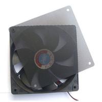 Wholesale Computer Dust Filters - Wholesale- New 1PC 120mm Fans 4 Screws Computer PC Dustproof Cooler Fan Case Cover Dust Filter Cuttable Mesh Fits Standard