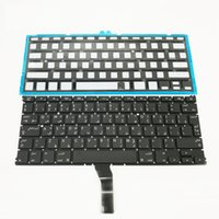 Wholesale Laptops Arabic Keyboard - Arbic laptop keyboard For Macbook Air A1369 A1466 Arabic version Keyboard with Backlight Brand New Black
