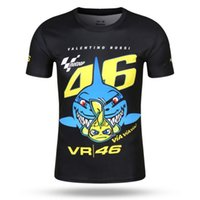 Wholesale Shark Gps - 2017 Moto gp QUICK-DRY Short Sleeve T-shirt for Valen Rossi VR46 46 Shark Motocross Jerseys Racing Motorcycle shirt