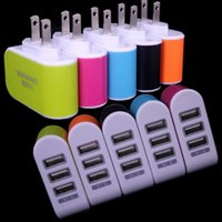 Wholesale android smart pc phone for sale - Group buy Eu Us wall charger V A Ports Multiple LED Wall USB Smart Charger Adapter adaptor for Samsung Galaxy s6 s7 s8 s10 htc android phone pc