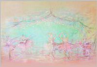 ingrosso sfondi vinili-7x5FT Cartoon Ballet Ballerina Stage Dance Personalizzato Photo Studio Sfondo Fondale Banner Vinyl 220cm x 150cm