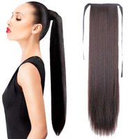 "Wholesale fashion hairpieces - Wholesale-22""Long Hot Sale Long Straight Ponytail Hairpieces Fashion Natural Hair Women's Ponytail Top Quality 15Colors Choose"