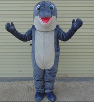 Wholesale Good Mascots - 100% real photo of Good vision grey dolphin mascot costume for adult to wear for sale