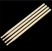 Wholesale Wholesale Drumsticks - 5A Maple Wood Drumsticks Stick for Drum Drums Set Lightweight Professional 50pairs Free DHL Fedex