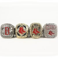 Wholesale Red Sox Championship Ring - 2004 2007 2013 2013 RED SOX CHAMPIONSHIP RING, 4 PCS RING SET COLLECTION