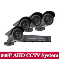 Wholesale Surveillance Camera Sets - 8CH CCTV System AHD DVR HDMI 1080P 2500TVL IR Outdoor Weatherproof CCTV Camera set Home Security System Surveillance Kit
