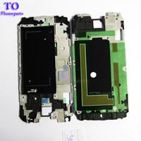 galaxy s5 orta çerçeve toptan satış-Samsung Galaxy S5 Için ön Konut Çerçeve Çerçeve Plaka Şasi i9600 G900 G900F Orta Çerçeve Çerçeve