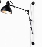 Wholesale Antique Industrial Light Fixtures - New Replica Designer adjustable antique modern industrial Long swing arm wall lamp lights for Bathroom Vanity sconce fixture